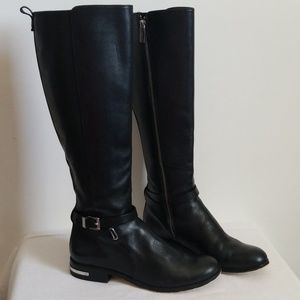 Michael Kors Knee High Riding Leather Boot